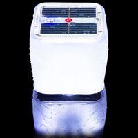laterne führte innen-außenleuchte großhandel-Cube Solar Aufblasbare LED Licht Lampe Laterne Nachtlichter PVC Wasserdicht IPX7 Dimmbare Indoor Outdoor Camping