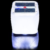 linterna led lámpara de interior al aire libre al por mayor-Cubo Solar inflable de luz LED enciende la lámpara de la linterna de la noche de PVC resistente al agua IPX7 regulable aire libre acampando cubierta