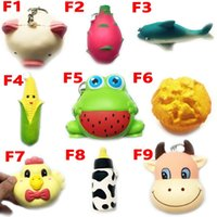 Wholesale cute chicken toys online - Squishy Toy frog cake Animal chicken dolphin corn squishies Slow Rising cm cm cm cm Soft Squeeze Cute gift Stress children toys
