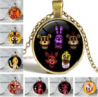 Wholesale Tile Necklaces - Free Shipping Hot Jewelry distributor 5 Five Nights at Freddy's FREDDY FAZBEAR Scrabble Tile Antique bronze Necklace