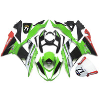 sportbike racing - Injection Fairings For Kawasaki Ninja ZX6R ZX R Year Sportbike ABS Motorcycle Fairing Kit Motocard Green Racing Team