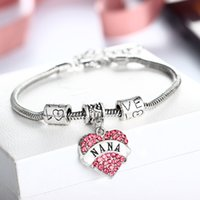 Wholesale porcelain family - New Jewelry Family love bracelet Mom Sister Daughter Bracelet Hope Heart charm bracelet For Women Gifts