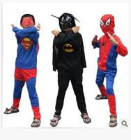 Wholesale Girls Bat Costumes - 2016 new Halloween Children Costume Clothing Set Clothes Girls Boys Spiderman Bat Zorro Cosplay
