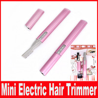 Wholesale Razor Bikini Trimmer - Women Ladies Body Shaver Razor Epilator Mini Portable Electric Eyebrow Trimmer Hair Remover Cutter Tool DHL