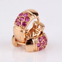 Wholesale Ear Ings - MOLIAM Fashion Crystal Hoop Earrings for Women Luxury AAA Cubic Zirconia LOVE Jewelry Ear-ings Hot Sale E301