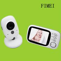 câmera de segurança de cores sem fio venda por atacado-Atacado-3.2 polegadas vídeo sem fio da cor Baby Monitor de alta resolução Baby Nanny Security Camera Night Vision Camera de monitoramento de temperatura