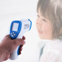 Wholesale Laser Guns Lcd - Non-Contact IR Laser Temp Gun Infrared Digital Thermometer Kids Infant Temperature Tester LCD Backlight
