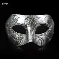Wholesale Retro Bar Accessories - Wholesale-Hot style!Male and female masks Retro medieval Earl Rome bar Halloween masquerade props Face mask Paper package