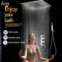 Wholesale Top Design Home Bathroom Way Inches Rainfall Mist Function Spa Shower Head Thermostatic Mixer Set