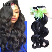 Wholesale dyeable hair weave for sale - Group buy Brazilian Hair Bundles Unprocessed Human Hair Weaves Peruvian Malaysian Indian Cambodian Body Wave Hair Extensions Natural Color Dyeable