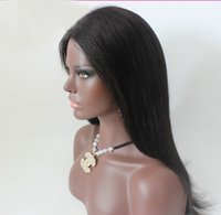 Wholesale Human Hair Very Long Wigs - 2016 Very Soft Human Hair Wigs Silk Straight Brazilian Hair Gluless Full Lace & Lace Front Human Hair Wigs For Women