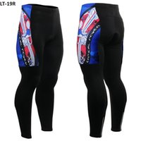 Wholesale Mens Cycling Tights Long - Ghostwolf 2016 Mens Cycling Long Pants thermal Ciclismo 3D Pad Bicycle Pants Breathable Bike Tights Outdoor Sport Wear Bike Pants Size S-4XL