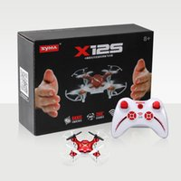 Wholesale Mini Helicopter Syma - X12S 4CH 6-Axis Gyro RC Helicopter Drones Quadcopter Mini Drone without Camera Indoor Toys Black Red Color 2107277