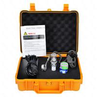 elektrischer nagelkoffer großhandel-Züchter Wasserdichte Gehäuse elektrische Nagel Version 2 Kit Quarz Nagel Elektronische Dab Nagel PID Temperaturregelungsbox Quarz Carb Cap auf Lager