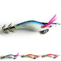 Wholesale Squid For Fishing - Free Shipping 3Pcs set Shrimp Lure Fishing Bait Tackle Hooks For Squid Tackle Swim baits 8cm 7.2g 3 Color