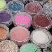 Wholesale Glitter Powder For Nails - 24pcs pack Nail Art Salon Glitter Acrylic Powder For Women Beauty Manicure Dust Gel Tools Random Color