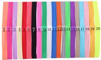 saç rengini seçme toptan satış-Ücretsiz Kargo ince elastik bantlar bebek kız DIY Saç Bandı Aksesuarları Geniş 1.5 CM seçim için 20 renk