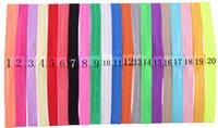 elástico de cabelo fino para bebé venda por atacado-Frete Grátis headbands elásticos finos do bebê meninas DIY Faixa de Cabelo Acessórios de Largura 1.5 CM 20 cores para escolher