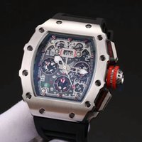 Wholesale United Ribbons - Europe and the United States top luxury brand watches RM 011 natural rubber strap mineral tempered glass XTC automatic movement men's watch