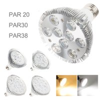Wholesale Spotlight Led 18w - Dimmable Available Led Bulb Spotlight par38 par30 par20 AC85-265V 7W 9W 12W 15W 18W E27 E26 LED Lighting Spot Lamp light downlight