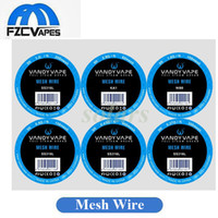 Wholesale Heat Heating - Authentic Vandyvape Mesh Wire New Heating Element Scroll KA1 NI80 316L Material 5ft for RDA RDTA Tanks 100% Original Vandy Vape