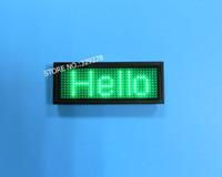ingrosso led edit-USB ricaricabile / Modifica per PC / Messaggio Pubblicità Verde LED Nome Scorrimento Segno Pannelli di testo Badge Biglietto da visita a LED