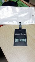 Wholesale Qi Charger Sticker - Qi Wireless Power Charger Receiver Film Wireless Charger Charging Receiver Module Sticker for Samsung s4 s5 note 3 note 4 note 5 DHL