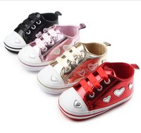 Wholesale Cheap Ties China - 2016 Sequined Love Princess toddler shoes!0-18 M baby shoes,non-slip cheap kids shoes,china soft girls single shoes.9pairs 18pcs.ZH