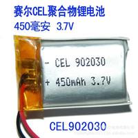 Wholesale Battery Cel - CEL 902030 450 mA lithium polymer battery 3.7V MP4 GPS Bluetooth MP3 Battery