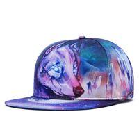 Wholesale Personalized Cap Hat - 2016 New Personalized 3D Wolf Printing Hip Hop Hats for Men Snapback Cap Hip-Hop Z-2630