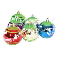 Wholesale Solid Gold Beads Wholesale - 6cm Christmas Ball Bright Matt powered Finished Balls 6 pcs A Lot Plastic Beads For Christmas Decoration Wedding Party Product Code :95-1032