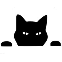 comprimento: 70cm Peeking Cat Funny Car Sticker para carros Door Side Truck Window Rear Windshield Vinyl Decal 8 cores
