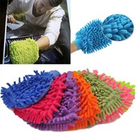 Wholesale garden tools wholesalers online - Cleaning Tool car wash gloves towel Car Wash Cleaning glove equipment Car detailing Cloths Home Duster cleaning IB310