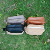 kit de corcho al por mayor-Cork PU Cosmetic Bag Wholesale Blanks Handmade Men's Shaving Bag Men's Leather Case Dopp Kit de viaje DOM106333