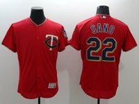Wholesale Item Number - 2016 New Hot items Men Minnesota Twins Jersey #22 Miguel Sano Majestic Scarlet Red Flexbase Collection Baseball Jerseys Stitched Name Number