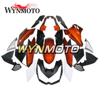 Carenados de color blanco anaranjado para Kawasaki Z1000 2010 - 2013 10 11 12 13 Cascos de ABS Kit de carenado de motocicleta Carrocería Carenados Accesorios