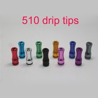 Wholesale Electronic Cigarette Aluminum Drip Tip - Colorful new 510 drip tips Electronic Cigarette mouthpiece metal aluminum drip tip rounded atomizer ego 510 accessory