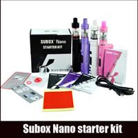 Wholesale Purple Vapors - Huge Vapor vape Subox Nano starter kit nano tank 5W-50W Battery