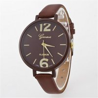 Wholesale Korea Ladies Watch - Free shipping South Korea NUODONG hot style fine quartz watch belt in Geneva ladies fashion lovers students watch