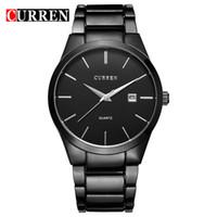 вахта стали curren оптовых-CURREN 8106 полный стальной циферблат наручные часы Мужские кварцевые бизнес дела календарь наручные часы мода досуг стиль часы оптовые продажи