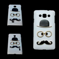 Wholesale Optimus L9 Hard Case - Cute Case for LG Nexus 5 5X Optimus F5 F6 L5 II L7 II L9 II L70 L80 L90, Fashion Chaplin Sexy Gentleman Hat Glasses Mustache Hard Back Cover