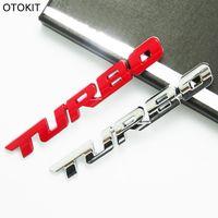 Wholesale Audi Q5 Emblem - Metal 3D TURBO Car Fender Tail Emblem Sticker for Audi A4 Q5 Q7 VW 1.4T 1.8T 2.0T Golf Passat Magotan CC Sticker for Benz
