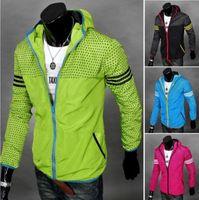 Wholesale Waist Fur Vests - NEW 2016 Bright red 4-color mode Shooting Men gradient Korean men Slim jacket coat MEN JACKET JK02
