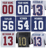 Wholesale Giants Rugby - new york ny giants odell beckham jr jersey Evan Engram Landon Collins Brandon Marshall retro rugby xxxl custom american football jerseys 4xl