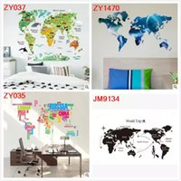 World map sticker decal canada best selling world map sticker colorful animal world map wall stickers living room home decorations pvc decal mural diy office kids room wall art 6 styles to choose gumiabroncs Choice Image