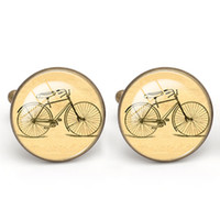 Мужская рубашка Cuff Link Мужская обувь Cabochon Cufflinks Note Bike Party Shirt Аксессуары Медный материал Vintage Men's Charm Jewelry Wholesale