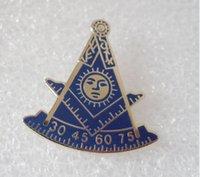 Wholesale Square Brooch - Wholesale 100pcs Freemason AF Am w Square Lapel Pin Brooch Pins Badges Past Master Masonic