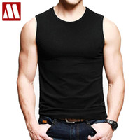 Wholesale Wholesale Men S Vests - Wholesale-Summer Style 100% Cotton Tank Tops Men Undershirt 2016 New Brand Quality Men's Vest Bodybuliding Gym Singlets Men's Sleeveless