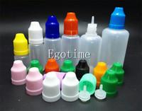 Wholesale Sale Plastic Bottles Cap - 5ml 10ml 15ml 20ml 30ml 50ml Thin Long Lid Softer Dropper Bottle Plastic Needle Bottles With Colors ChildProof Caps for E Juice Factory sale