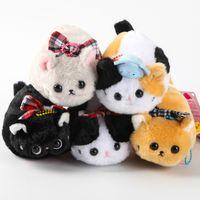 "Wholesale Anime Plush Wholesale Japan - Free Shipping EMS Japan AMUSE Cat nap cloth art's doll The cat plush dolls plush doll keychain bag pendant 4.5"""